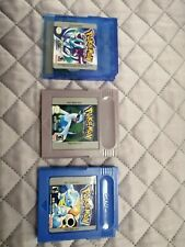 Pokemon lot Versione Blu Blue Version Nintendo Game Boy silver christal