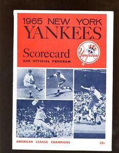 1965-1969 MLB Baseball Programs All New York Yankees 3 Different