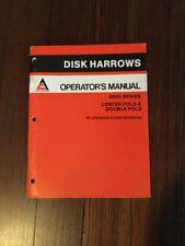 Allis Chalmers 2600 Series Disk Harrows Operators Manual Ac 80 Pgs