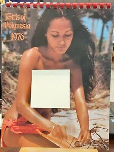 Girls of Polynesia 1976 Calendar - RARE! HOT WOMEN OF TAHITI AND HAWAII