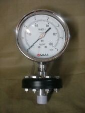 NEW MASS STAINLESS DIAPHRAGM 100PSI PRESSURE GAUGE 5''