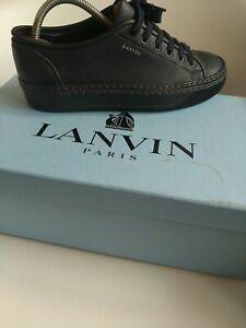 Lanvin Paris  Mens Shoes size 7 authentic 100% designer trainers navy blue