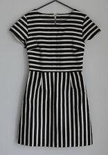 Satin Stripes Short Sleeve Dresses for Women