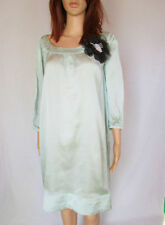 Satin Casual 3/4 Sleeve Plus Size Dresses for Women