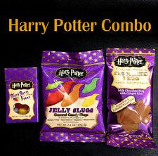 Jelly Belly Harry Potter Bertie Botts +  Jelly Slugs + Chocolate Frogs