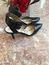 SAM EDELMAN Black Patent Leather Pointed Toe Dorsay Pump Size 5.5 MSRP $130