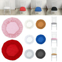 Round Removable Elastic Stretch Slipcovers Home Dining Chair Seat Cover