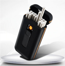 USB Electronic Lighter For Slim Cigarette With 20pcs Capacity Cigarette Case Box