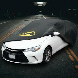 Batman Car Cover - Black Waterproof All Weather Protection for Auto Outdoor
