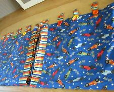 Hand Made Speed Race Car Window Curtains Novelty Panels 2 Unisex Colorful Lined