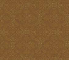 Golden Brown Rounded Diamond Shape Damask Medallion Wallpaper -  QT19465