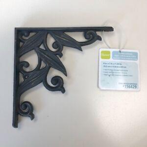 "Liberty 156429 7"" Willow Leaf Shelf Bracket Distressed Black & Gold Finish"