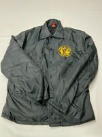 Mens PLA-JAC Black Vintage Military Snap Tomahawk Eagles Alaska Jacket Sz M