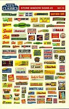 City Classics-HO Scale -- #501-10 – Store Window Signs #2