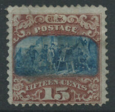 More details for usa 1896 sg121 15c brown & blue tii grill very fine used minute thin. cat £250
