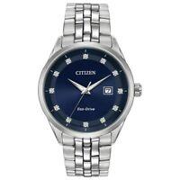 Citizen Eco-Drive Corso Men's Diamond Accents Silver-Tone 41mm Watch BM7251-53M