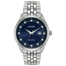 Citizen Eco-Drive Corso Men's Diamond Accents Silver-Tone 41mm Watch BM7251-53M