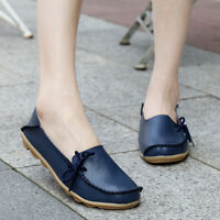 Women Leather Slip on Loafers Casual Driving Moccasin Flat Shoes Oxfords Work