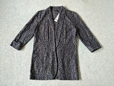 Warehouse Ladies Grey Lace Blazer - Size 10 BNWT