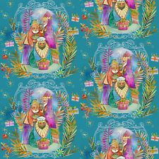 Christmas Peace Nativity 3 Kings Jesus Religious Fabric  1/2 Yard    #21398
