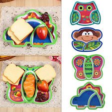 Owl Infant Baby Dishes Kids Children Feeding Tableware Animal Plate Food Tray