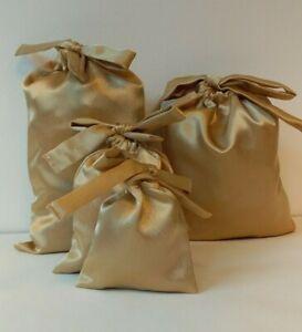 Satin Bag Gift Drawstring Pouche Reusable Favour Jewellery Pouches  Sizes Colors