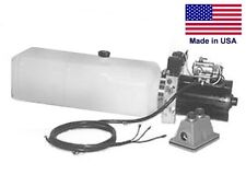 Commercial Hydraulic Dc Power Unit 4 Way Function Horizontal Mount 187 Gal