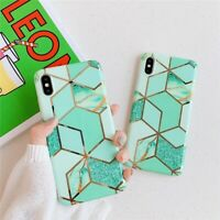 Marble Case Cover for iPhone X XS MAX XR 6s 6 8 7 Plus Pastel Geometric Pattern