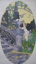 1925 1930 2 Estampes couleurs Art Déco enfantina signées Reine Enfance