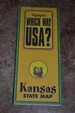 "Highlights Which Way Usa? Kansas State Map ""Vgc"""