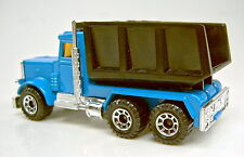Matchbox 1-75 Superfast 23E Peterbilt Tipper Pre-pro in blau schwarzer Kipper