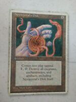 MTG Magic the Gathering English Nevinyrral's Disk 1995 4th Edition HP
