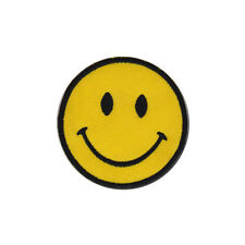 Smiley Face Retro Acid House Badge Embroidered Patch 6.5cm