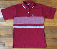 Vintage 80's Men's Polo By Donna, Red W/White Stripes, Large, Free Shipping
