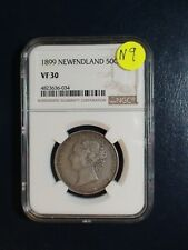 1899 NEWFOUNDLAND Fifty Cents NGC VF30 SILVER 50C Coin PRICED TO SELL!