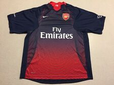 Nike fit dry fit Arsenal Fly Emirates red jersey shirt Medium Navy Blue EUC T13