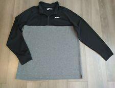 Nike Golf Dri-Fit Standard Fit 1/4 Neck Zip Black/Grey Mens Pullover Size Xxl