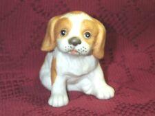 "Vintage Springer Spaniel Homco Puppy Dog Figurine Tan & White Porcelain 3"" Tall"