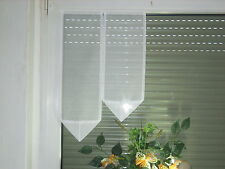 Scheibengardine 50cm Scheibengardinen Weiß  L:ca 70,60cm Gardine Flügelfenster