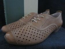 JOSEF SEIBEL Tina 305 Equipe Nut Tan Lace Up Heels Shoes US 9 - 9.5 M EUR 40 NWB