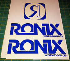 2011 RONIX BLUE LOGO STICKER You Get 2 WAKEBOARD DECAL