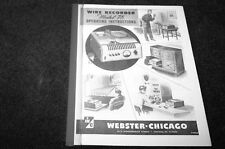 Webster Chicago 78 Wire recorder owners manual reprint
