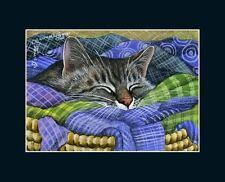 Tabby Cat ACEO Print The Laundry Is Done I Garmashova