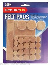 30PC FELT PADS PROTECTION TABLE TOP FLOOR WOOD LAMINATE FURNITURE NEW
