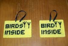 Brand New Handmade Needlepoint Emergency Sign Birds Inside 4 Dog Rescue Charity