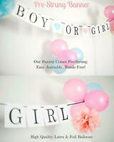 Baby Gender Reveal Party Decorations Balloons, Photo Booth Props (70 pieces set)