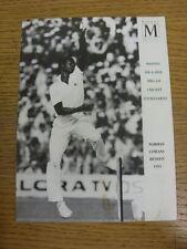 12/07/1993 programma Cricket: Massoni 6-A - Lato PRO-AM Cricket Torneo [a Tedd