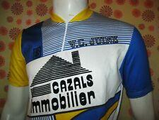 Vintage 70s Ancien MAILLOT BURDIGALA SPORT VELO CLUB JUINE CAZALS IMMOBILIER T4
