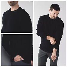 NWT $158 Lululemon Rare! Men's Merino Wool Timeless Sweater Days Crew Black, M
