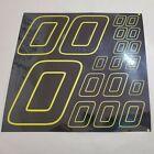 BLACK CHROME w yellow #0's Decal Sticker Sheet 1/8-1/10-1/12 RC Models